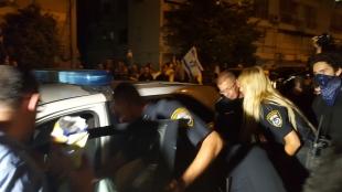 Detention of a demonstrator